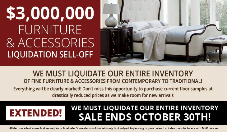 Furniture Sell Off Sale