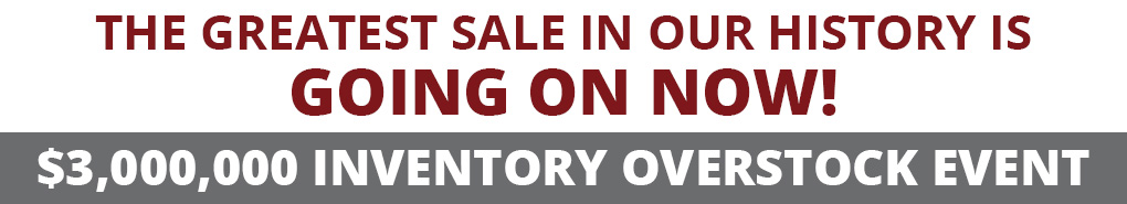 $3 Million Inventory Overstock